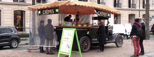 Carro de crepes da Champs Elysées