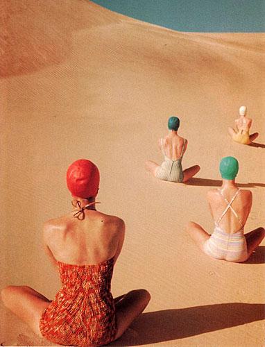 Clifford Coffin (1913-1972) Vogue américain, juin 1949 Maillots de bain Cole of California, Mabs, Caltex et Catalina Impression à jet d'encre d'après  ektachrome original Archives Condé Nast, New York