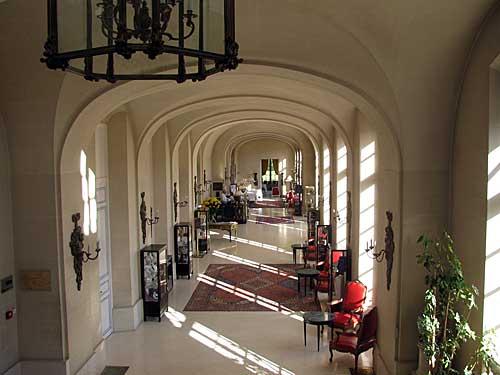 Lobby do Châteaux d'Artigny