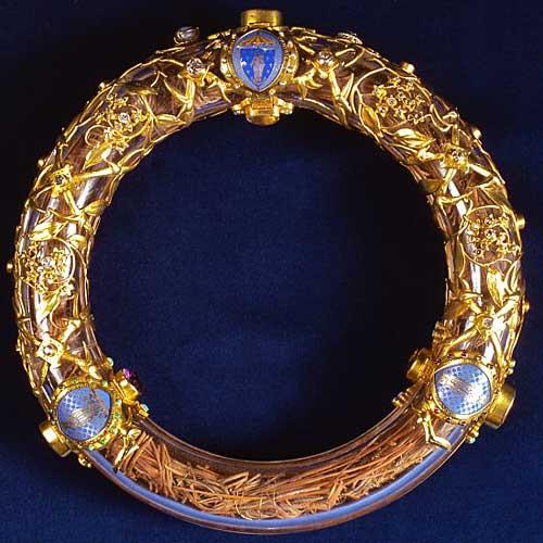 Coroa de espinho dentro da sua proteção.