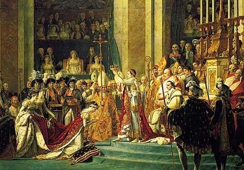 Coroação de Josefina, quadro de Jacques-Louis David (detalhe)