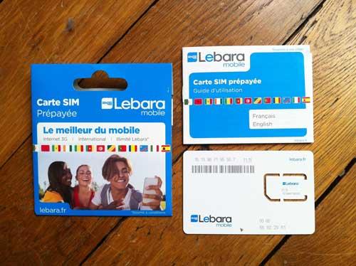 Carte SIM Lebara