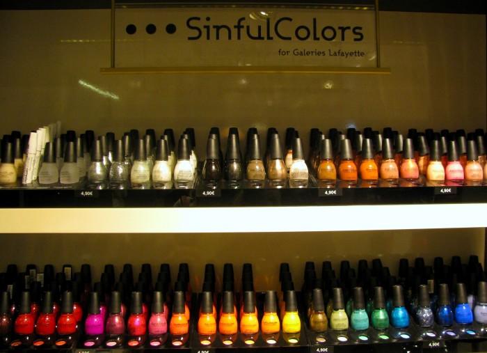 SinfulColors, marca de esmaltes da Galeries Lafayette