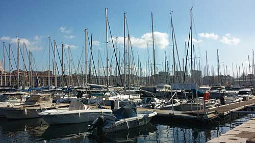 Antigo porto de Marseille, ponto de partida do tour de bike