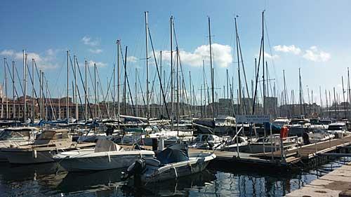 Antigo porto de Marseille, ponto de partida do tour de bike