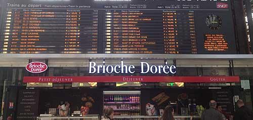 Brioche Dorée, sanduíches vendidos nas estações