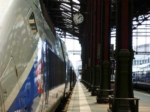 TGV na estação parisiense