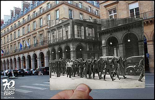 Rua Rivoli, soldados alemães sendo presos