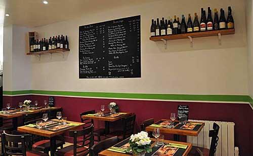 Restaurante de queijos e vinhos