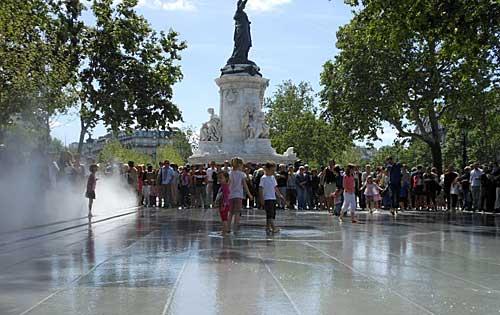 Praça Republique em Paris