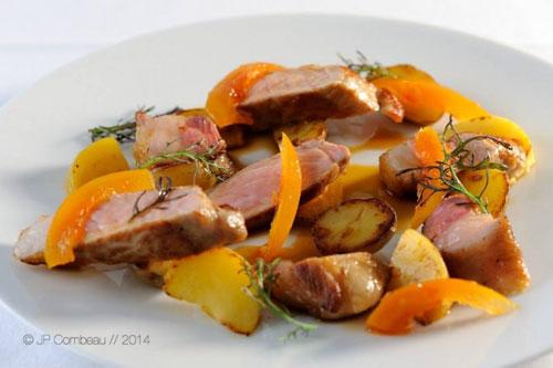 Porc Noir de Bigorre Grillé, condiment pamplemousse - gingembre