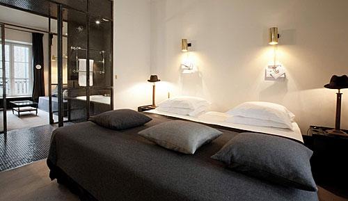 Uma das suites do Hotel Particulier