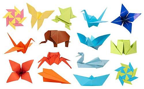 Origamis pré-cortados