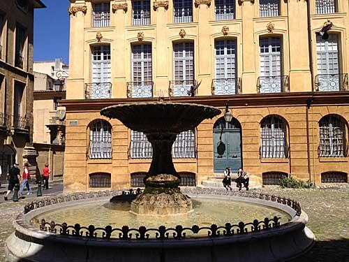 Aix en Provence e suas fontes