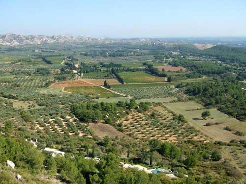 Vista que se tem de Baux de Provence
