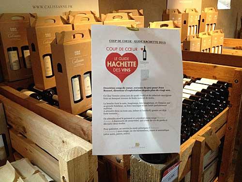 Compra de vinhos no Château