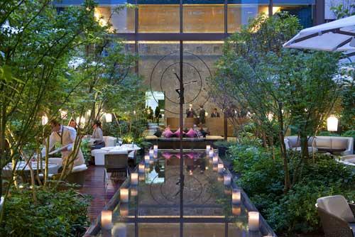 Jardim interno do Mandarin Oriental