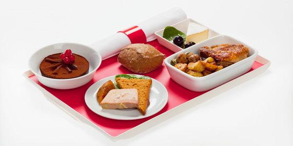 Menu Tradition, disponível nos voos da Air France saindo de Paris