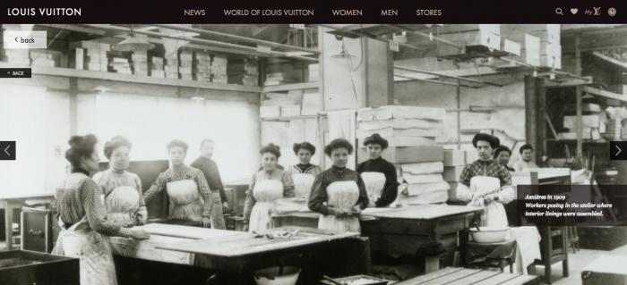 Atual site da marca Louis Vuitton mostra fotos do antigo atelier em Asnières