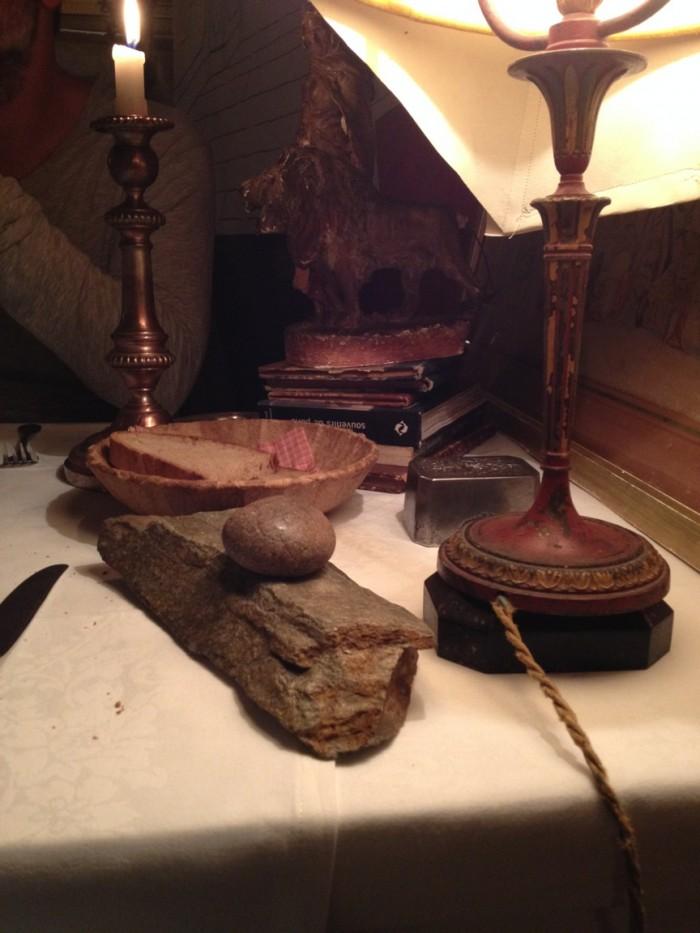 Datalhe da decoração da nossa mesa