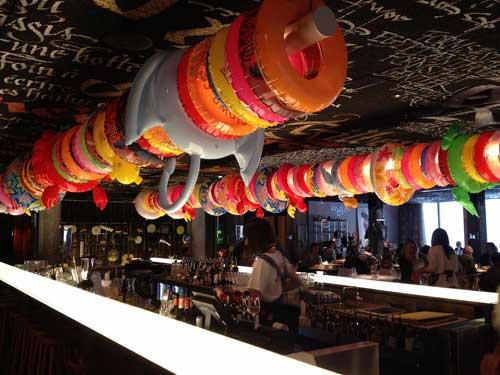 Bar e restaurante do Mama Shelter de Bordeaux