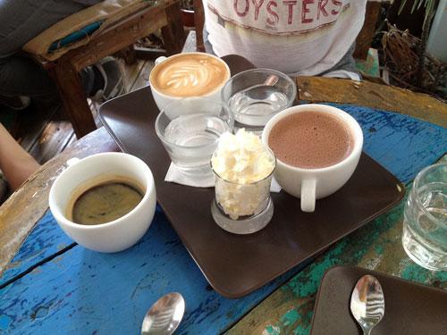 Excelentes cafés e chocolates