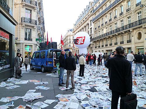 Manifestação rua La Fayette