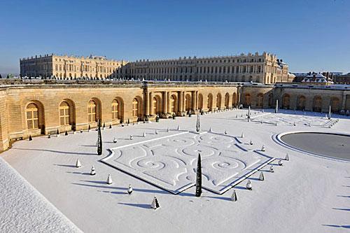 Versailles no inverno