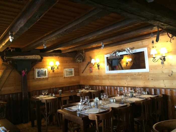 Restaurante-chalé nos arredores de Chamonix