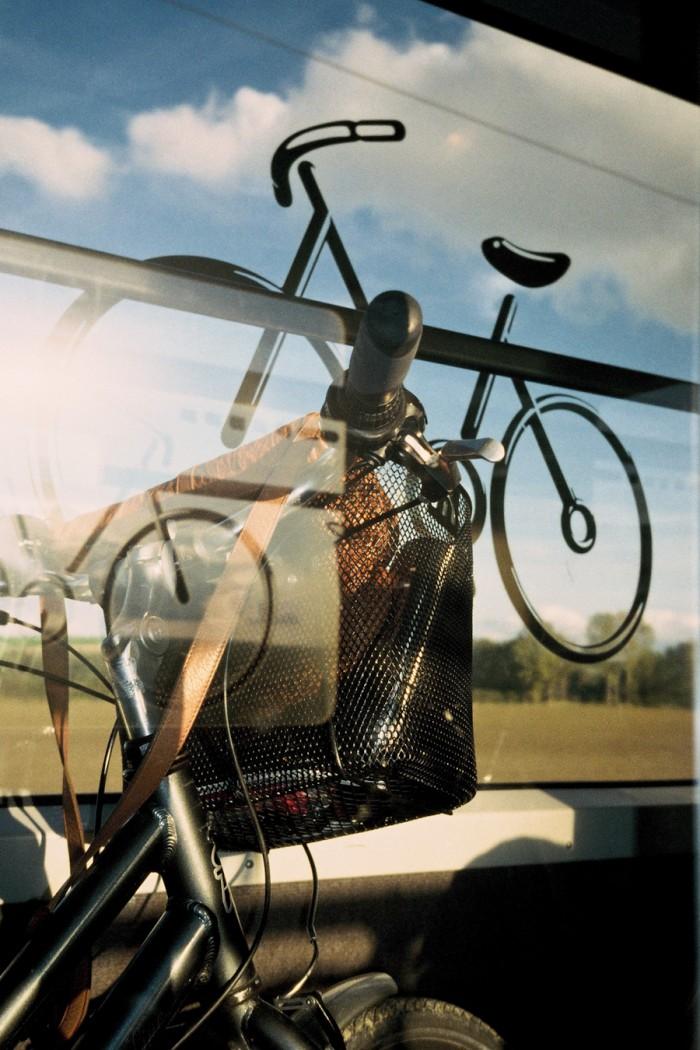 Minha bicicleta dentro do trem