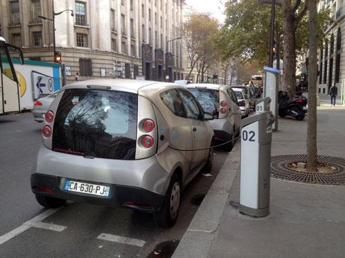 Autolib, carros em locação livre