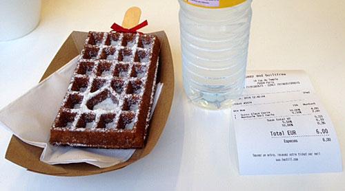 Waffle com açúcar
