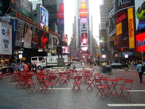 Cadeiras parisienses na Broadway