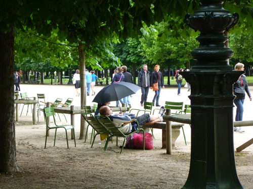 Cadeiras verdes, símbolo de Paris