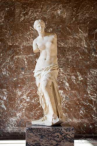 La Venus de Milus, Museu do Louvre. Foto Claudio Perpetuo