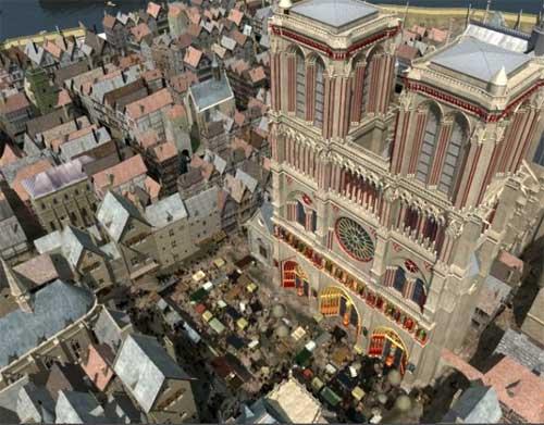 Notre Dame de Paris colorida
