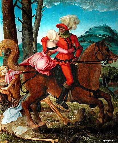 Hans Baldung, Le Chevalier, la Jeune Fille et la Mort, Musée Louvre