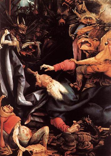 Mathias Grunewald retable d'Issenheim la tentation de saint Antoine, musee unterlinden colmar