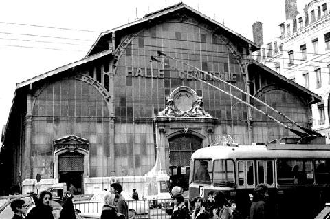 O antigo mercado coberto de Lyon