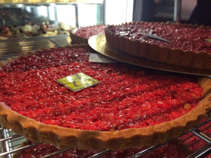 Torta de pralinê, especialidade local