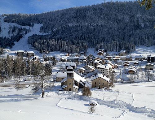 Estação de esqui no Monts Jura
