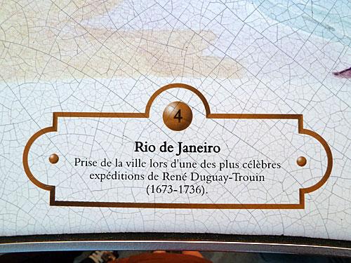 Brasil nas placas de Saint Malo, Bretanha