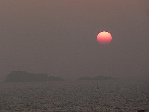 Saint Malo, pôr do sol