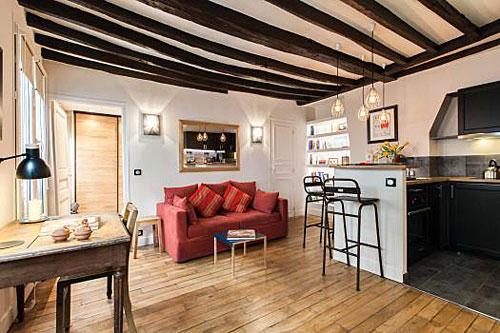 Apartamento quarto e sala no Marais