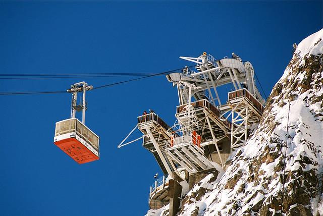 O teleférico do Brévent, que sobe até 2,5 mil metros de altitude