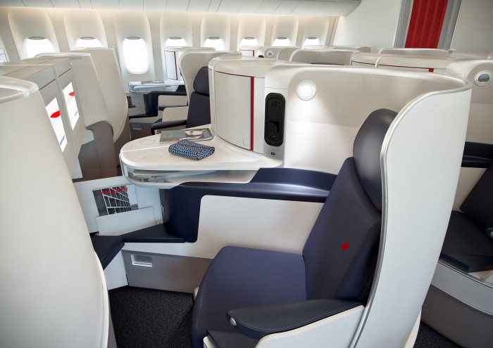 As novas poltronas da Business da Air France