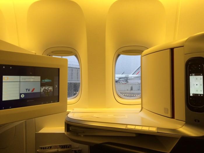 Tela do sistema de entretenimento dos novos aviões da Air France