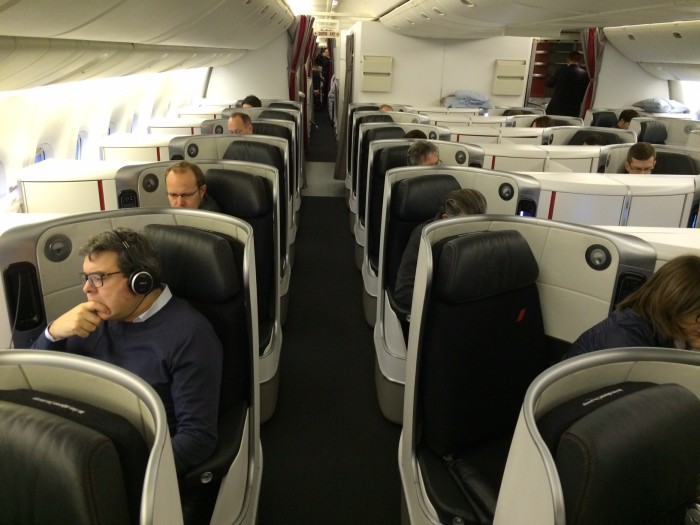 Quatro poltronas por fileira na nova Business da Air France