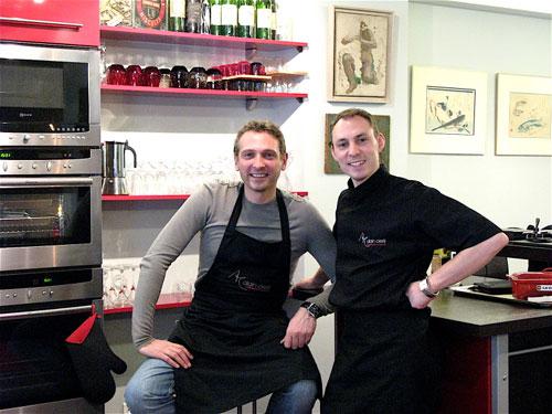 Alain Cirelli, a esquerda