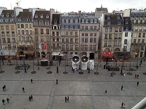Centre Pompidou, vista de Paris